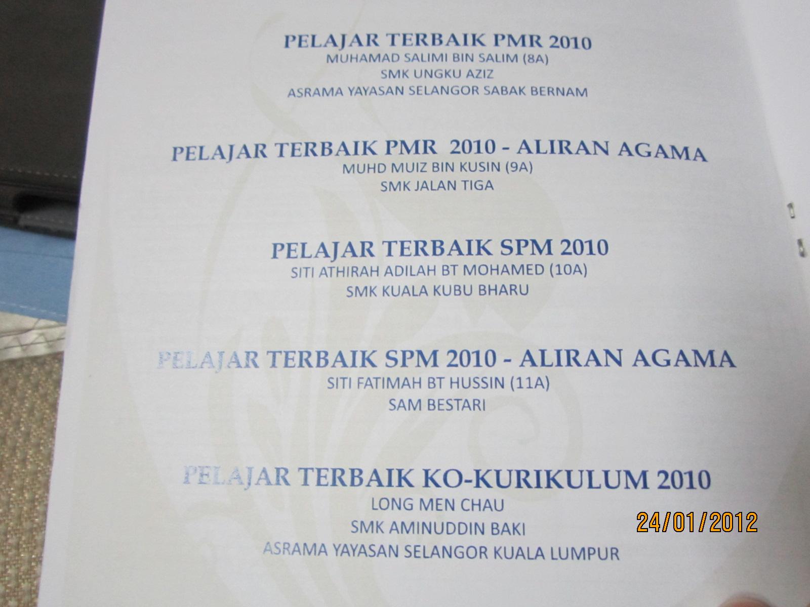 Yayasan Selangor Melahirkan Pelajar Cemerlang Sekolah Agama Amat Menyerlah N45 Dr Halimah Ali